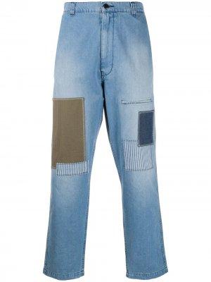 Прямые джинсы средней посадки Junya Watanabe Comme des Garçons Pre-Owned. Цвет: синий