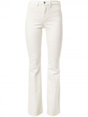 LAgence расклешенные джинсы Joplin L'Agence. Цвет: белый