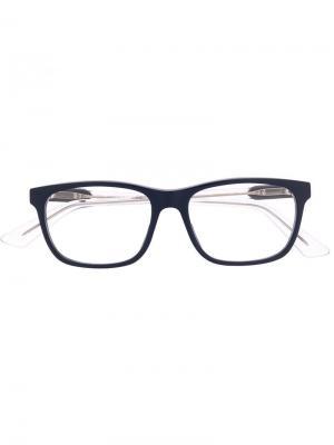 Очки в прямоугольной оправе Gucci Eyewear. Цвет: синий