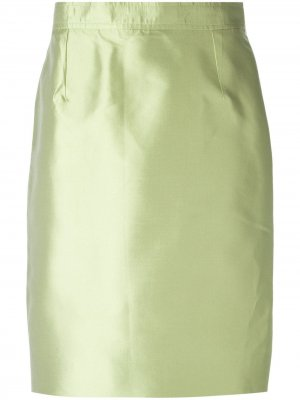 Классическая юбка-карандаш Christian Lacroix Pre-Owned. Цвет: зеленый