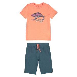 Пижама LaRedoute. Цвет: оранжевый