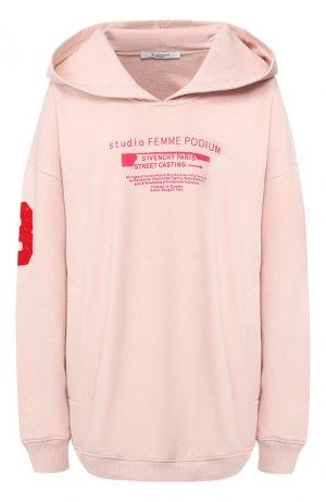 Хлопковое худи Givenchy. Цвет: светло-розовый