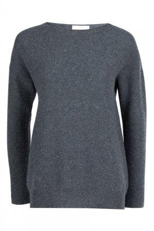 Серый пуловер с люрексом Fabiana Filippi. Цвет: серый