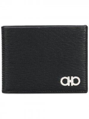 Double Gancio billfold wallet Salvatore Ferragamo. Цвет: черный