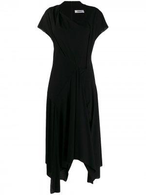 Платье с короткими рукавами Chalayan. Цвет: черный