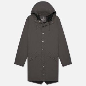 Мужская куртка дождевик Long Jacket Rains. Цвет: серый