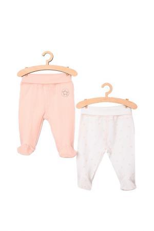 Ползунки (2 штуки) для девочек 5.10.15.. Цвет: розовый