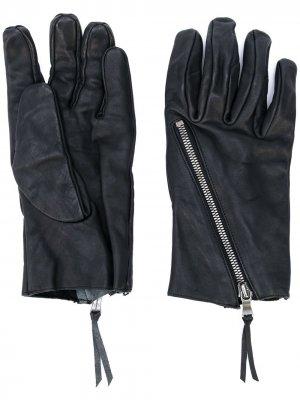 Фактурные перчатки с молнией The Viridi-Anne. Цвет: черный