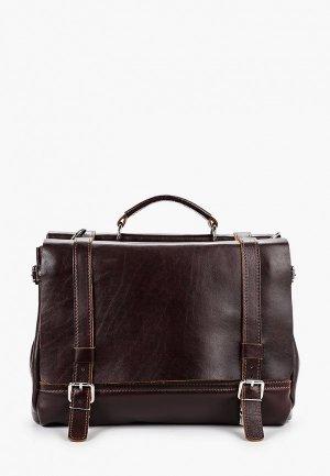 Портфель Igermann portfolio. Цвет: коричневый