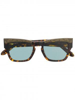 Солнцезащитные очки в квадратной оправе Dsquared2 Eyewear. Цвет: коричневый