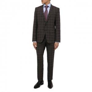 Шерстяной костюм BOSS. Цвет: коричневый