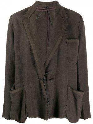 Пиджак свободного кроя 2003-го года LANVIN Pre-Owned. Цвет: коричневый