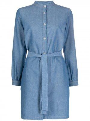 Джинсовое платье с воротником-стойкой A.P.C.. Цвет: синий