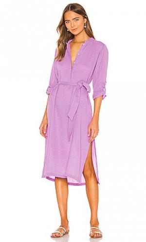 Платье миди oku MIKOH. Цвет: фиолетовый