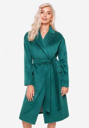 Пальто SoloU. Цвет: зеленый