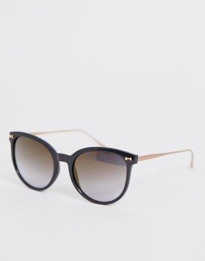 Черные круглые солнцезащитные очки -Черный Ted Baker