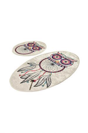 Комплект ковриков для ванной Chilai Home. Цвет: серый