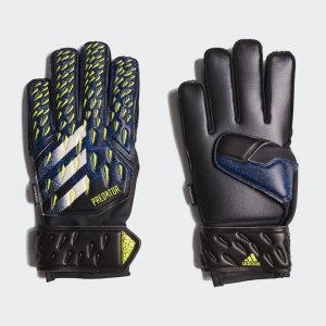 Вратарские перчатки Predator Match Fingersave Performance adidas. Цвет: белый