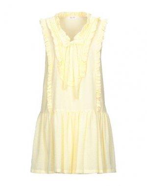 Короткое платье DEBY DEBO. Цвет: желтый