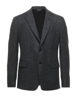 Пиджак BRIAN DALES. Цвет: свинцово-серый