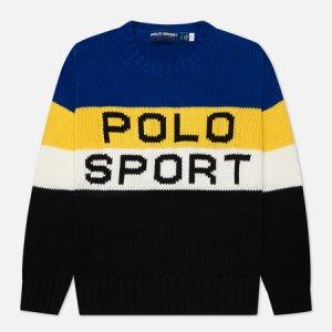 Женский свитер Polo Sport Colour-Blocked Ralph Lauren. Цвет: чёрный