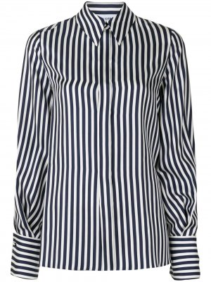Рубашка в полоску с рукавами бишоп Dice Kayek. Цвет: синий