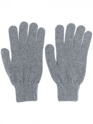 Fitted knitted gloves PAUL SMITH. Цвет: серый