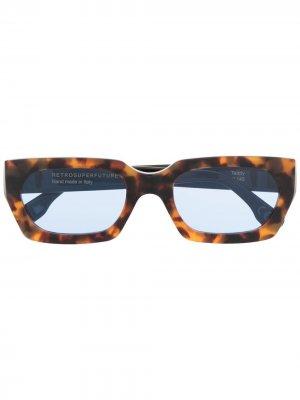 Солнцезащитные очки в оправе черепаховой расцветки Retrosuperfuture. Цвет: коричневый