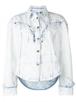 Джинсовая куртка с отделкой бисером Alanui