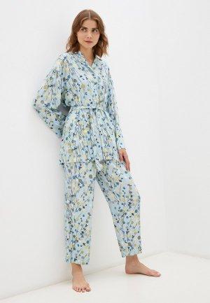 Пижама Argent. Цвет: бирюзовый