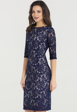 Платье Eva. Цвет: синий