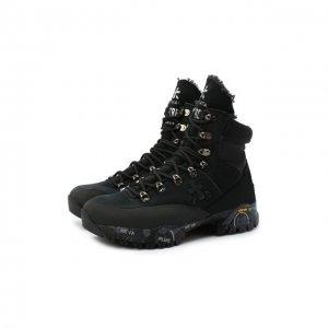 Комбинированные ботинки Midtrecd Premiata. Цвет: чёрный