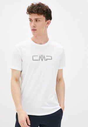 Футболка CMP. Цвет: белый