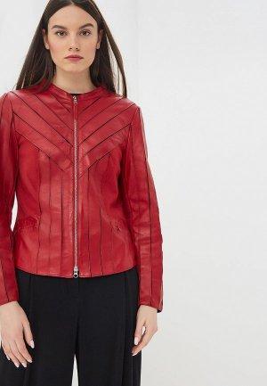 Куртка кожаная Madeleine. Цвет: красный