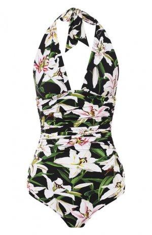 Слитный купальник Dolce & Gabbana. Цвет: черный
