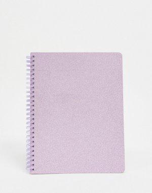 Сиреневый блокнот мини с блестками Ban Do-Фиолетовый цвет DO