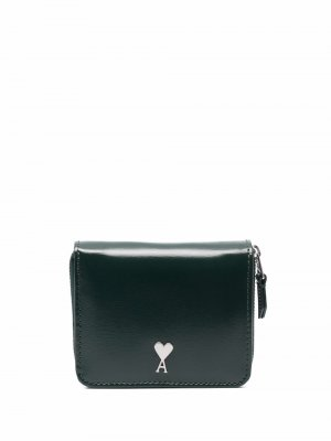 Компактный кошелек с монограммой Ami de Coeur Paris. Цвет: зеленый
