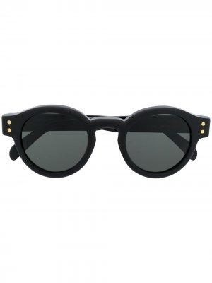 Солнцезащитные очки Eddy Retrosuperfuture. Цвет: черный