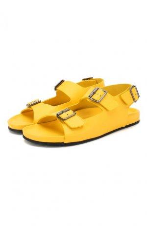 Кожаные сандалии Gallucci. Цвет: жёлтый