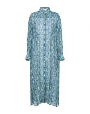 Платье длиной 3/4 BINI Como. Цвет: темно-зеленый