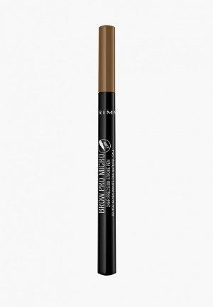 Карандаш для бровей Rimmel Лайнер Brow Pro Micro 24HR Precision-Stroke Pen, 01, 1 гр