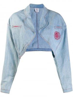 Джинсовая куртка 1980-х годов без застежки Fendi Pre-Owned. Цвет: синий