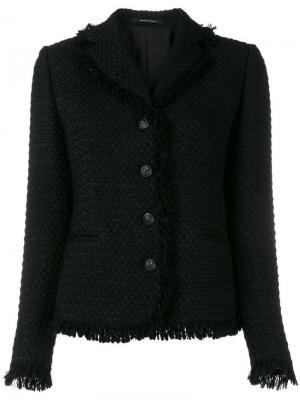Твидовый пиджак Tagliatore. Цвет: черный