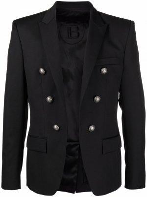 Пиджак с декоративными пуговицами Balmain. Цвет: черный