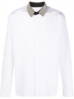 Рубашка с кристаллами на воротнике Haider Ackermann. Цвет: белый