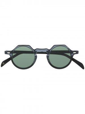 Солнцезащитные очки Yoga в круглой оправе Lesca. Цвет: черный