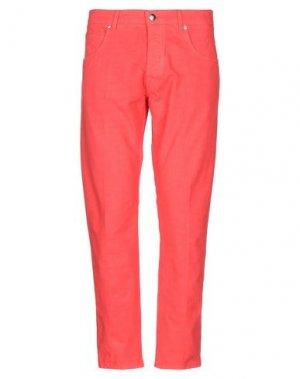 Повседневные брюки 2 MEN. Цвет: коралловый