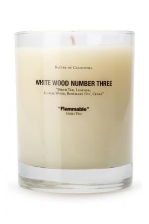Ароматическая свеча «White Wood 3» Baxter of California. Цвет: без цвета