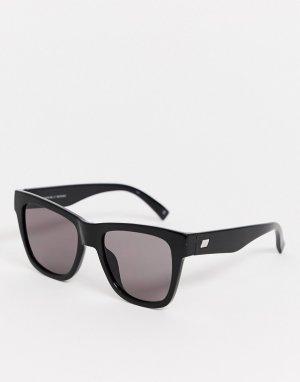 Черные квадратные солнцезащитные очки -Черный Le Specs