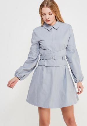 Платье Lost Ink COTTON SHIRT DRESS. Цвет: голубой